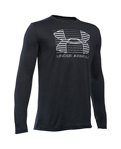 Under Armour Boys' Breakthrough Logo Long Sleeve T-Shirt, Black (001), Youth Medium