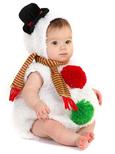 Princess Paradise Baby Snowman, White, 12 to