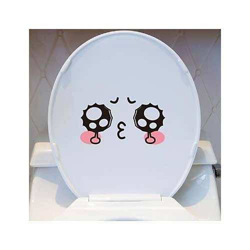 free shipping lana Cartoon Expression Toilet Posted Toilet Sticker