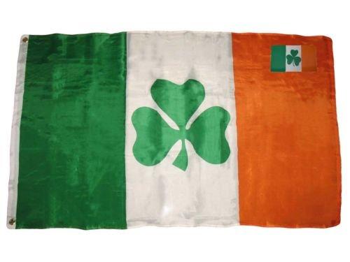 Moon 3x5 Ireland Irish Shamrock St Patricks Clover Leaf 3x5