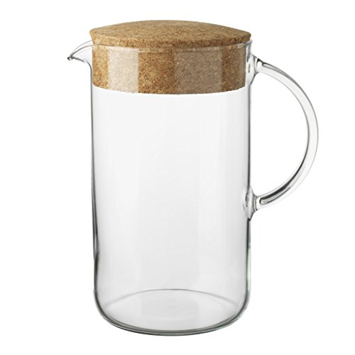 glass pitcher with cork lid - 1