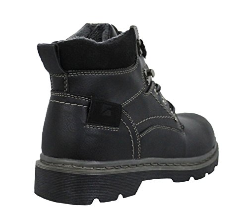 stivaletti nero con interna pelliccia scarpe Hanson Stivali invernali uomo qHxEnwIpR6