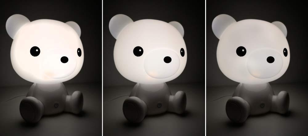 MALATEC Kinderlampe Nachtlicht f/ür Kinder mit Lichtintensit/ätsregelung Einschlafhilfe Hase //Teddyb/är 7881 Muster:B/ärchen