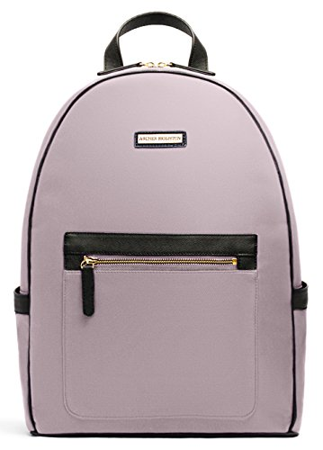 """Archer Brighton Cara Laptop Backpack, Women's 13"""" Business Travel Leather Canvas Multipurpose Backpack (Pink) by Archer Brighton"""