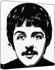 The Beatles Paul Mccartney Pop Art Painting 100 Original Not A Print