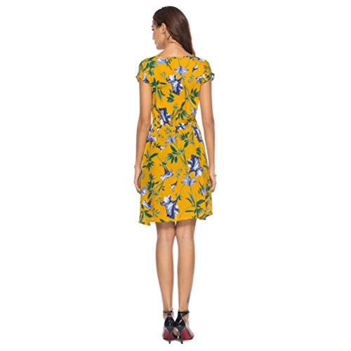 Schienale Giallo Crochet Dress Senza Vestiti Slip Abito Estivi Womens Donna Canotta Mini yanhoomoda Pizzo Sera Abiti Camisole Eleganti U1SPq