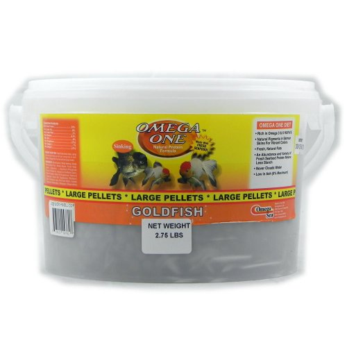 Omega One Large Sinking Goldfish Pellets Fish Food (Pond Large Pellet)