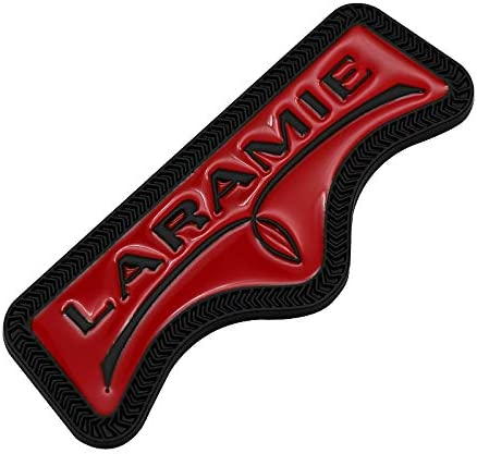 1x 3D Metal Laramie Tailgate Emblem Allloy Badge Sticker Nameplate Replacement for 1500 2500 3500 Chrome Red