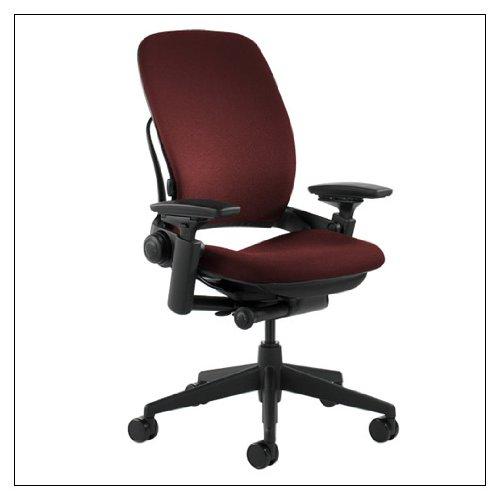 - Steelcase Leap Fabric Chair, Burgundy