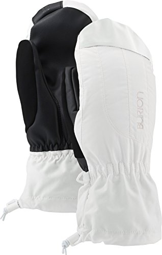 Burton Women's Insulated, Warm, and Waterproof Profile Mitten with Touchscreen, Stout White, Medium