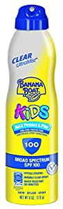 Banana Boat UltraMist Kids MAX Protect & Play Clear Spray Sunscreen SPF 100: 6 OZ