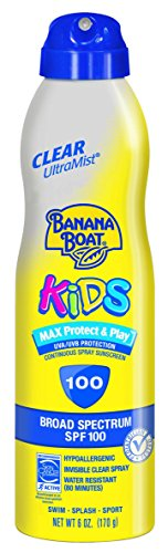 Price comparison product image Banana Boat UltraMist Kids MAX Protect & Play Clear Spray Sunscreen SPF 100: 6 OZ