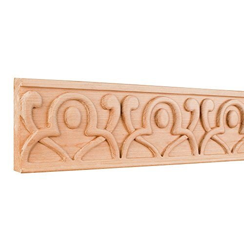 - Home Decor HCM13MP Hand Carved Geometric Frieze Moulding - Hard Maple