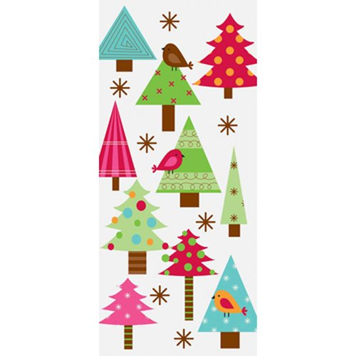 The Gift Wrap Company 8 Count Cellophane Treat Bags, Festive Forest, Multicolor (Food Gift Companies)