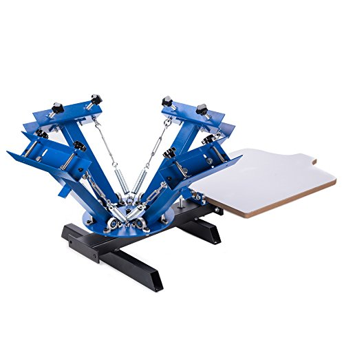 CO-Z 4 Color 1 Station Screen Printing Machine Silk Screen Printing Machine Screen Printing Press Removable Pallet Special Design by CO-Z