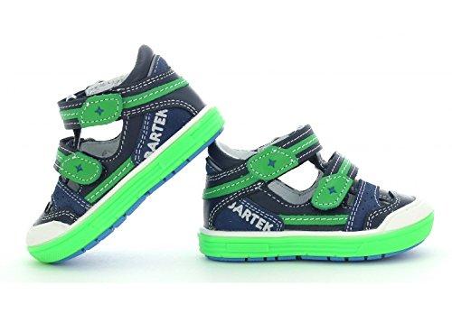 Amazon.com   Bartek Boys Leather T-Strap Shoes Closed Toe Sandals 81885/X81 Ocean Green (Toddler/Little Kid)   Shoes
