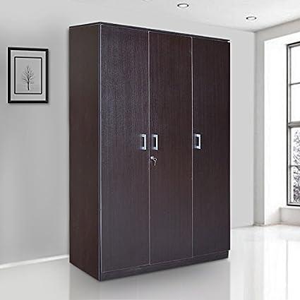 HomeTown Prime 3 Door Wardrobe (Wenge)