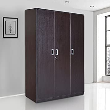 HomeTown Prime Melamine Faced Chipboard Three Door Wardrobe