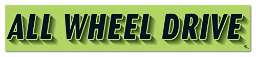 Donkey Auto Products Vinyl Highlights Windshield Slogans Window Stickers (Black Text On Fluorescent Green) (14-1/2