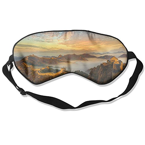 WUGOU Sleep Eye Mask The Great Wall Lightweight Soft Blindfold Adjustable Head Strap Eyeshade Travel -