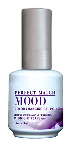LECHAT Perfect Match Mood Gel Polish, Midnight Pearl, 0.500 Ounce Midnight Pearl
