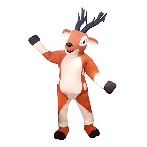 Deer Animal Mascot Costume Character Cosplay Brown ()