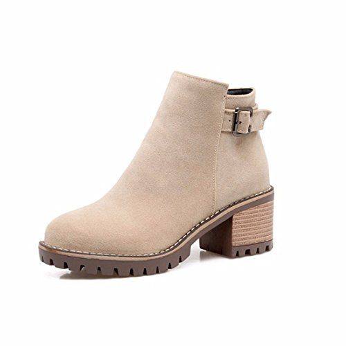 Ladies' Beige autumn in short boots qwgq8nIrz