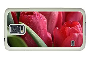 Hipster unique Samsung Galaxy S5 Cases Roses Water Drops PC White for Samsung S5