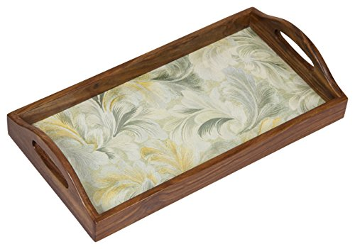 Home Creation Natural Brown Wood,Polished Tray, Brown (HC 073) Price & Reviews