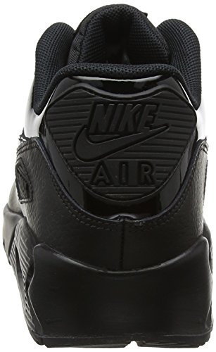 Nike Dame Wmns Air Max 90 Læder GymnastikSko Elfenbein (sort Sort Sort 002) 6PrUEAsz