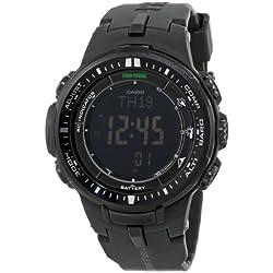 Casio Men's PRW-3000-1ACR Protrek Black Sport Watch