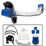 "3.5"" Cold Air Intake Kit W/Heat Shield Fit for GMC 14-17 Sierra 1500 5.3L 6.2L V8 Blue"