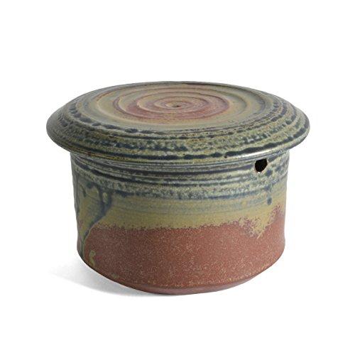 Holman Pottery French Butter Keeper, Desert Glaze
