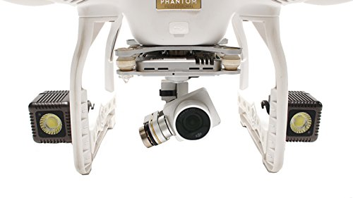 Lume Cube - Lighting Kit for DJI Phantom 3 Pro Drone (Includes 2 Lume Cubes + 2 Mounts + Zipper Case)