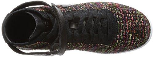 Nike Heren Af1 Ultra-flyknit Mid Basketbalschoen Zwart / Brrt Crimson-court Paars-violet