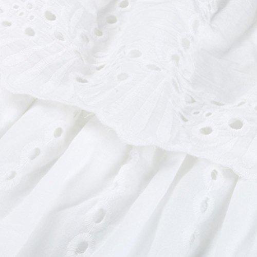 Vestito Spalline NINGSUN vestito Loose Senza Mini ricamato estivo da Bianco Sexy party Estive sera beach Abito principessa Senza Spalline da Gonna Donna Vita Eleganti Moda Abito 66qIF