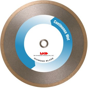 Supreme Grade Continuous Rim (MK Diamond 153495 MK-415 10 Inch by .080 Inch Wet Cutting Continuous Rim Diamond Saw Blade with 5/8-Inch Arbor for Porcelain and Tile)