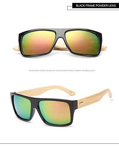 De para De Marco A para Hombres 400 Personalidad del Los del Protección La Sol Aviador Madera G De Ultravioleta Gafas Mujer A6zqY