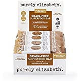 purely elizabeth Grain Free Superfood Bar, Peanut Butter, 12 Count