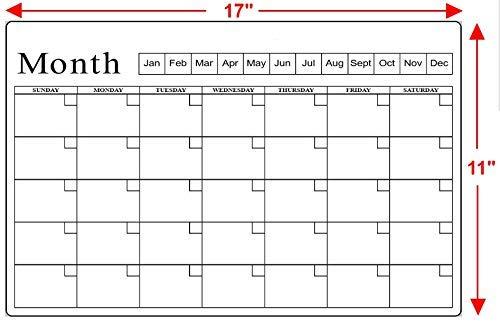 calcomanía para calendario de pizarras blancas antimanchas, para neveras, paredes y otras superficies interiores lisas,...