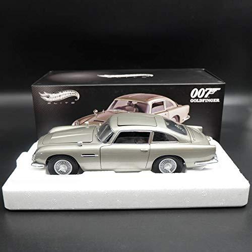 FidgetFidget Hotwheels Elite Aston Martin DB5 Goldfinger 007 James Bond BLY20 Diecast 1:18 ()