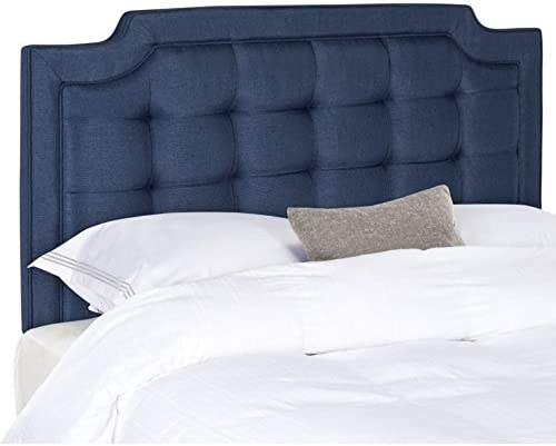 Safavieh Mercer Collection Sapphire Navy Blue Tufted Headboard King
