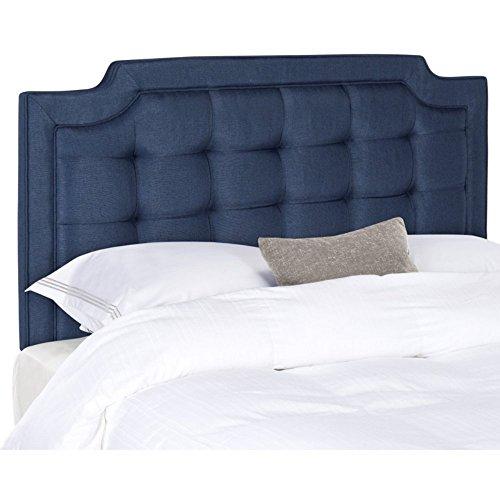 Safavieh Mercer Collection Sapphire Navy Blue Tufted Headboard (King)