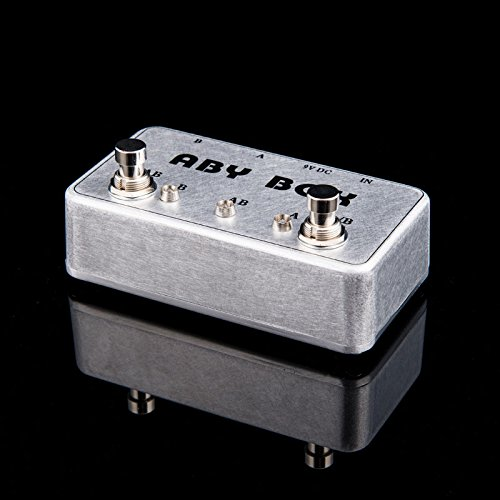 New Hand made ABY Switch Box For Effects Pedal-TRUE BYPASS- Amp/guitar AB