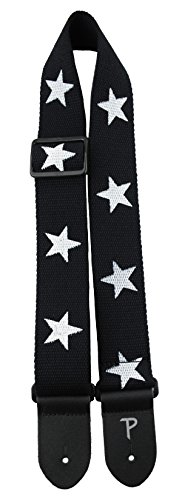 Perris Leathers CWS20-6845 Deluxe Cotton Guitar Strap, Black