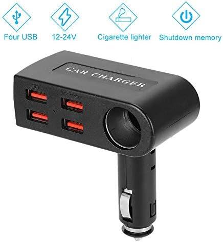 車のUSB充電器、12-24Vユニバーサル4ポートUSB充電器シガーライター充電式アダプター自動アクセサリーiPhone Xs max/XR/x/7/6s、iPad Air 2/Mini 3、Note 9/Galaxyと互換性あり