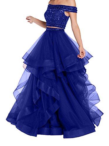 Damen Quincenera Pailletten Damen Kleider Blau 2018 Ballkleider Hochwertig Prinzess Charmant A Promkleider Royal Neu Abendkleider Linie wp70d1qx