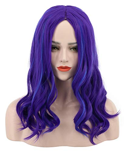 Karlery Adult Women Long Wave Purple and