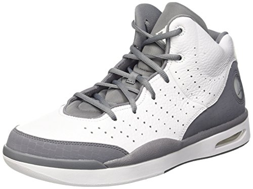 Jordan Nike Men's Flight Tradition White/Cool Grey Basketball Shoe 12 by Jordan