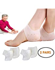 Gel Set - 2 Pairs - Heel Protectors - Relieve Heel Pain from Plantar Fasciitis - Heel Spur - Cracked Heels